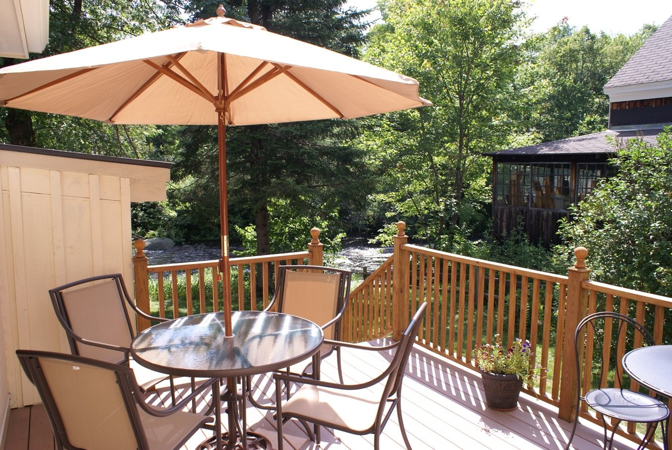 Image of river deck, Little River B&B, Peterborough NH