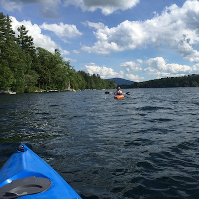 Image of kayakers on Silver Lake, Harrisville NH