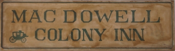 1930s original MacDowell Colony Inn Sign