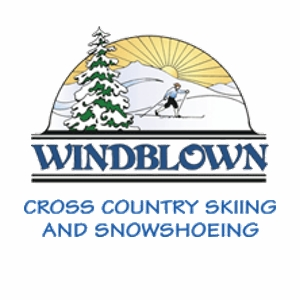Image of Windblown cross country ski area logo